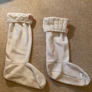 Hunter Other - Cream Hunter Boot Socks